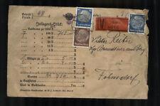 ÖSTERREICH - AUSTRIA ca. 1938 Wertbrief aus Graz - Südmark mit Hindenburg