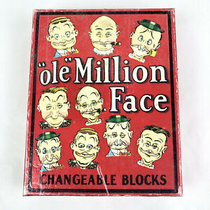 """""""Ole"""" Million Face Changeable Face Blocks Puzzle 1998 by Optical Toys"""