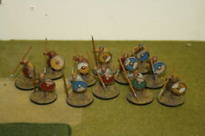 28mm 12 x Painted Gripping Beast Saxon Warriers with Spears  Lion Rampant