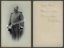 orig. CDV-Großfoto Offizier Eugen Zorn Säbel Portepee seltene Uniform Heer 1895