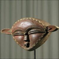 42956) Afrikanische Kwele Holz Maske Gabun Afrika KUNST