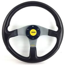 Genuine Momo Tuner black leather 350mm steering wheel. Lovely condition. 7A