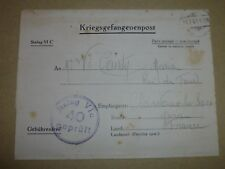 2WW P.O.W. Kriegsgefangenenpost Letter from STALAG VI C in GERMANY July 1941.