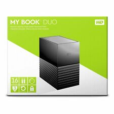 Western Digital WD 16TB My Book Duo Hard Drive 8TB x 2 = WDBFBE0160JBK Gen 2