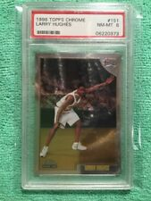 1998 TOPPS CHROME LARRY HUGHES RC PSA 8 NM MINT