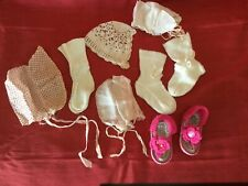 Vintage 7 Piece Mixed Lot Socks Stockings Hats Sandals for Dolls