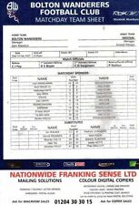 Liverpool Away Team Football Reserve Fixture Programmes