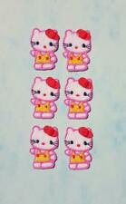 6 Iron On Embroidered Hello Kitty Applique - Patch - IR3