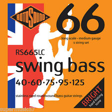 Rotosound RS665LC 5 string Swing guitare basse acier inox roundwound 40-125
