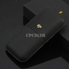 Classic Black Pattern Leather Leather Cohiba Cigar Case