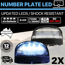 2x 8 LED License NUMBER PLATE LIGHT TRUCK TRAILER VAN UTE CARAVAN 10-30V LAMP