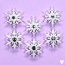DRESS IT UP Buttons Fancy Snowflakes 9498 -  Snow Rhinestones Xmas Christmas