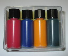 [1l = 249€] Glühbirnenfarbe, Tauchlack je 10ml rot-gelb-grün-blau  *NEU*