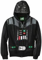 New NWT Men's Boys Star Wars Empire Jedi Darth Vader L Large Zip Up Black Hoodie