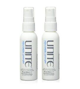 UNITE Hair 7 Seconds Detangler Leave In Conditioner 2 fl oz ( Pack of 2 )
