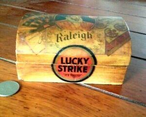 Vintage Wood Lucky Strike Cigarettes Display Box