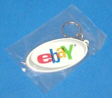 VERY RARE EBAY LOGO OFFICIAL EBAYANA RUBBERIZED KEYCHAIN WITH METAL RING & CHAIN