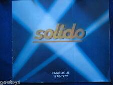 SOLIDO catalogue 1978/79 + Dépliant collection militaire
