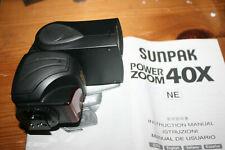 Sunpak Power Zoom 40X NE Electronic Flash for Nikon 35mm SLRs with TTL Metering