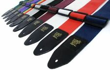 More details for ernie ball polypro adjustable guitar strap with leather ends - various colours