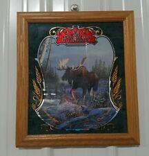 Old Milwaukee Beer Mirror Wildlife Series 2 Moose Mirror Advertising Sign