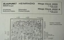 Service Manual F. blaupunkgt relojes radio mega Clock 4000
