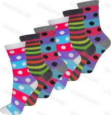 6 Pairs Ladies Womens Coloured Socks Funky Pattern Design Adults Designer 4-6.5