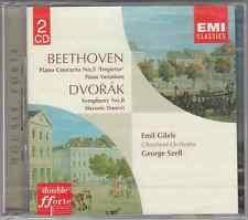 BEETHOVEN PIANO CONCERTO 5 PIANO VARIATIONS DVORAK SINF 8 - GILLES SZELL - 2 CD