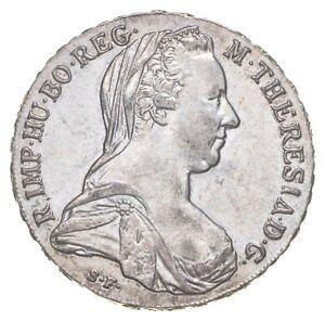 SILVER Roughly Size of Quarter 1780 Austria 1 Thaler World Silver Coin *855