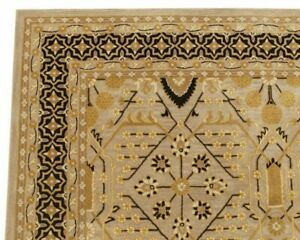 Catherine Folk Style Brown Oriental Oushak Hand-Tufted 100% Wool Area Rug Carpet