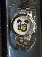 Womens Vintage Disney  Channel Mickey Mouse Watch Lot ( Two-Tone Silver Band)New