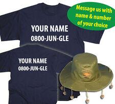 Custom I'm A Celebrity Jungle Funny Fancy Dress T-Shirt & Australia Hat