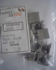25pcs Molex 52018-6415 Right Angle, Inverted, 6/4 Modular Jack RJ11