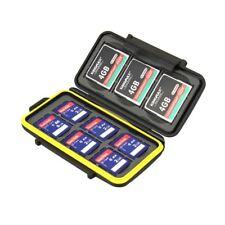 Reino Unido! JJC MC-SD6CF3 caso resistente al agua Tarjeta de memoria SD y se adapta a 6 X 3 x tarjetas cf