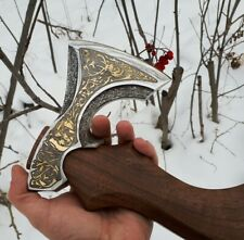 Christmas axe. Russian patterned hatchet.  collectible gift hunter Luxury men's