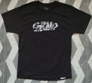 Grnd Logo tee. Black / Camo sz Large
