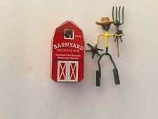 NEW Farmer Barnyard Bender By Hog Wild Toys Barn Tin Posable Magnetic  Great Fun