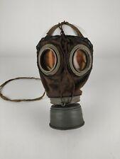 Ww1 Wwi World War I German M1917 Leather Gas Mask W/ Filter Lederschutzmaske