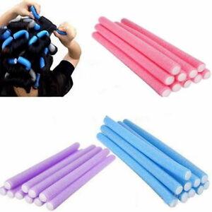 Simple Soft Foam 10 Curler Makers Bend Twist Curls Tool Styling Hair Rollers