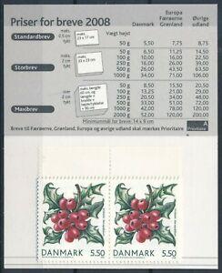 DENMARK Sc. 1418 5.50k Flowers 2008 MNH booklet S174