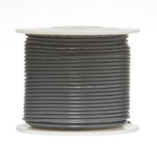 "24 AWG Gauge Stranded Hook Up Wire Gray 250 ft 0.0201"" UL1007 300 Volts"