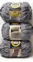 BIG Yarnispirations Bernat Blanket Yarn - 36006 Gray Super Bulky 6 - 10.5 oz Lot