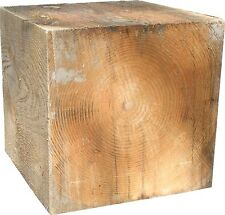 Douglas Fir Softwood Cube/Plinth 400mm Sculpture/Seat/Garden