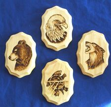 3 Oneida clans and the Overseer Wolf Bear Eagle Turtle 4 pieces Native American