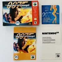 007 The World Is Not Enough N64 Box and Booklet Manual Only Nintendo 64 No Game