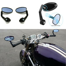 """Anti Glare Motorcycle Billet Aluminum 7/8"""" 22 Bar End Side Rearview Mirrors"""