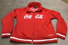 Coca-Cola 2014 Sochi Winter Olympics Red Sponsor Zip Jacket Men's Sz L / XL EUC
