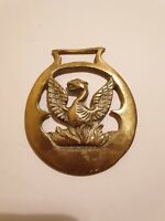 Vintage Cast Horse Brass With Eagle Centre