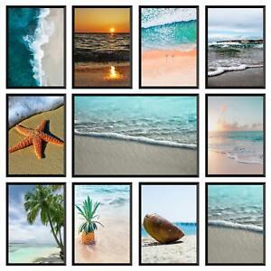 Beach Prints Wall Art Coastal Sea Nature Pictures Ocean Decor Poster