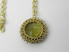 "Anthony Nak Signed 18k Gold Citrine 16' Necklace ""TWIST"""